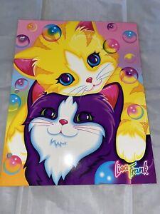 Fantastic World Lisa Frank RARE Bubble Kittens Cats Vintage Folder Portfolio