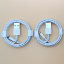 2pcs-1M Genuine Original Apple USB Lightning Cable Charger iPhone 11 X 8 7 iPad