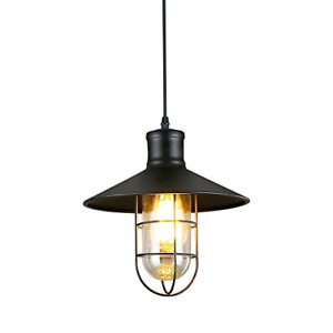 LNC Pendant Lighting for Kitchen Island Black Industrial Hanging Lamp A01910