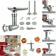 Metal Meat Grinder / Food Stuffer Chopper Attachment For Kitchenaid Stand Mixer