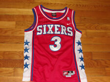 NIKE PHILADELPHIA 76ERS ALLEN IVERSON NBA BASKETBALL JERSEY BOYS MEDIUM EXC.