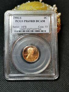 PCGS PR69RD DCAM 1990-S ONE CENT PENNY