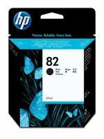 GENUINE AUTHENTIC HP HEWLETT PACKARD HP 82 BLACK INK CARTRIDGE CH565A 69ML