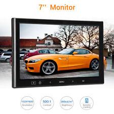 7 Inch Car Monitor Touch Button Hi-Fi Loudspeaker support HDMI VGA AV for Office