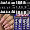 100Pcs/Box Acrylic False Nail Tips Fake Nails Art French Stiletto Manicure Tools