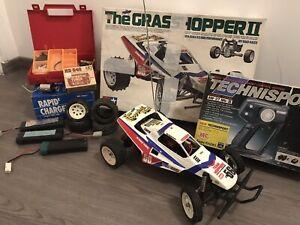 Rare !!! TAMIYA 58074 GRASSHOPPER II Tuned Motor RS540 & wheels + Acoms & more !