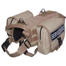 Backpack Dog Harnesses Service Dog Vest Removable 2 Side Bags & label Patches