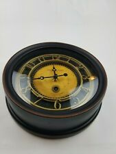 Sterling & Noble Clock No. 9 Black with Brass Gold Wood Color
