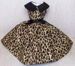 "18""   Miss REVLON  DOLLIKIN   FASHION  Clothes   ANIMAL  PRINT  & ORGANDY  DRESS"