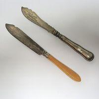 2 x antike Jugendstil Fischgabel Gabel reich graviert  ca. 23 x 2,5 cm (1)