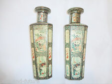 SCARCE 1928 HUNTLEY & PALMER FIGURAL BISCUIT TINS, PAIR OF CHINESE VASES 10 1/4""