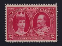 Canada Sc #98 (1908) 2c carmine Quebec Tercentenary Mint VF NH