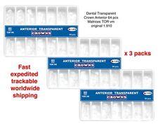3 x de soins dentaires transparents Couronne Anterior 64 pcs Matrices TOR vm...