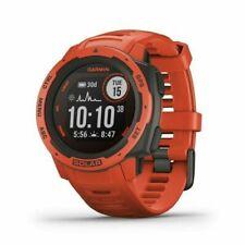 Garmin Instinct Solar GPS Smart Watch - Flame Red - (0100229321)