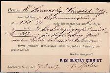DR 1907, PK von Altenburg nach Neuwied, Gustav Schmidt