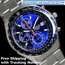 SEIKO SND255 SND255P Pilot Chronograph Tachymeter 100m New Men's Watch Japan F/S