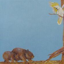 "8x8"" Scrapbook Paper Australian Animal Themes Wombat & Cockatoo"