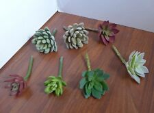 New listing 7 Mix Plants Artificial Succulent Snowball And Lotus Flower Grass