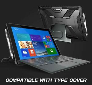 UK For Microsoft Surface Pro 7 6 5 4 LTE, SUPCASE Case w/ Kickstand Cover BLACK