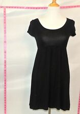 H&M Black Empire Wiast Baby Dool A-line Short Sleeve Dress Sz 2 # 5465 Batch 199