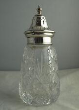 Fine Vintage Solid Silver Mounted Sugar Caster - Birm. 1969