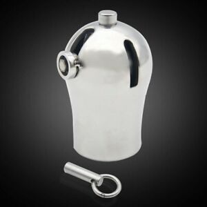 Male Luxury Chastity Stainless steel Cage with Titanium Plug and PA Device A295