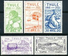 Greenland THULE, Complete Set of 5 MH.