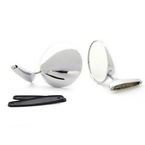FOR OPEL OLYMPIA REKORD A B C P III PAIR STAINLESS DOOR MIRROR LH/RH ( 2pcs )