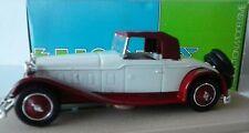 ELIGOR 1:43 AUTO DIE CAST DELAGE D8 1934 CABRIOLET CAPOTA BLANCO ROJO ARTE 1039