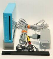 Nintendo Limited Edition Wii Console Stand Sensor Bar & Cords BLUE RVL-101(USA)