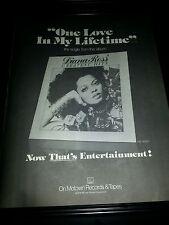 Diana Ross One Love In A Lifetime Rare Original Promo Poster Ad Framed!