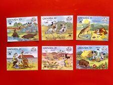 Grenada 1988 Walt Disney Sydpex'88 Set Of 6 Stamps Animals Of Australia