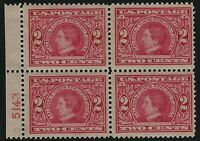 US Stamps - Scott # 370 - Plate # Block of 4 - 2 MNH & 2 MLH             (A-517)