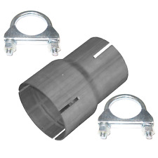 Pipe reducer from 60mm on 70mm Repair pipe connector exhaust system + clamps g*