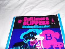 Vintage 1974-75  Baltimore Clippers Program AHL hockey nhl Richmond Robins