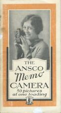 Ansco Memo Camera Instruction Manual 1929