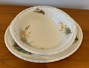 New Hall Hanley Staffordshire England Small Platter and Vegetable Bowl