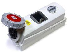ESR IP67 63A 380V - 415V Industrial Switched Interlock Socket 3 Pin + N + Earth