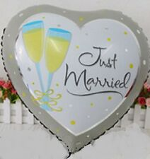 """Just Married Wedding Balloon 18"""" Heart Wedding Day Party Celebration Decoration"""