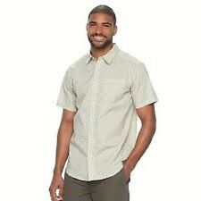 Columbia camisa manga corta hombre talla m verde camping performance Top