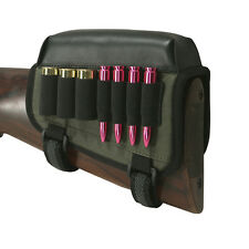 Tourbon Rifle/Shotgun Ammo Shell Holder Cheek Piece Rest Pad Buttstock Gun Left