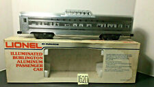 LIONEL # 9579 BURLINGTON . ALUMINUM VISTA DOME PASS COACH,OB