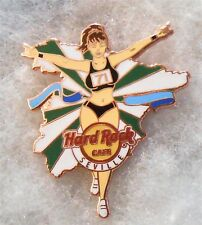 HARD ROCK CAFE SEVILLE SEXY MARATHON RUNNER GIRL WITH ARMS RAISED PIN # 93370