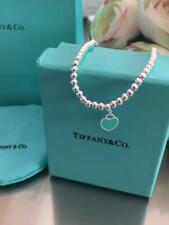 RETURN  TO TIFFANY Bead Bracelet BLUE 18cm