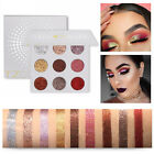 9 Colors Shimmer Diamond Glitter Eyeshadow Palette Eye Shadow Matte Makeup Accs