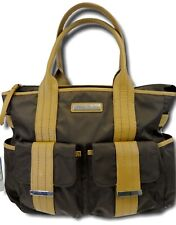 Perry Mackin Zoey Diaper Bag Leather Trim Brown Great for Dads NEW MSRP $185