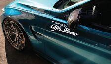 "Powered by Alfa Romeo Racing Decal Sticker 4C giulia stelvio giulietta 12"" Pair"