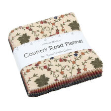 Country Road Flannel charm 42 die cut 5 inch squares Kansas Troubles