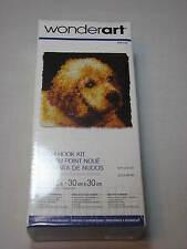 "NEW Wonderart Latch Hook Kit 12 x 12"" Rug Puppy Love Caron Golden Retriever Lab"