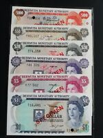 Bermudian Paper Money -- Bermuda Monetary Authority 1978-1984 #78-84 SPECIMEN